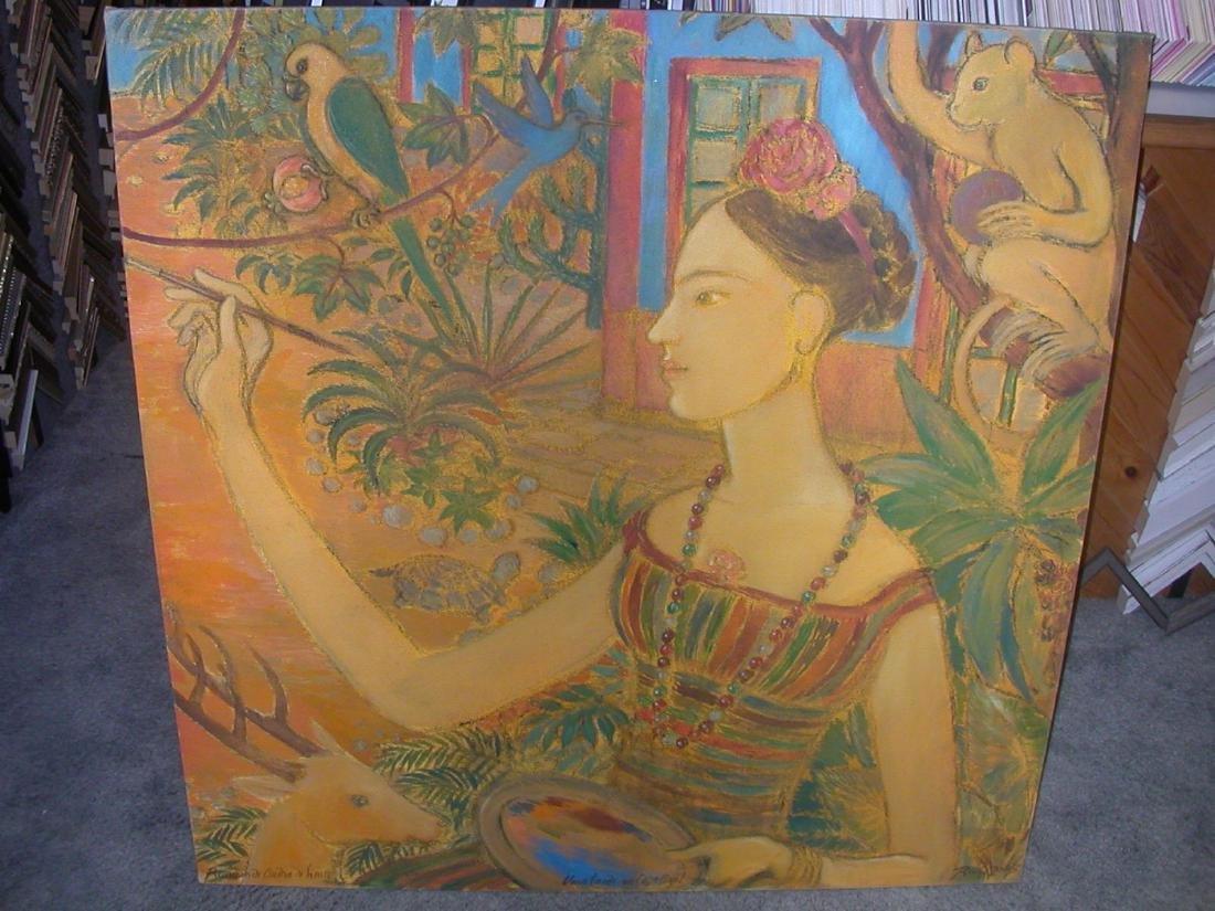 """Romero De Andrade Lima Oil Painting """"Villa Tardo Na"""