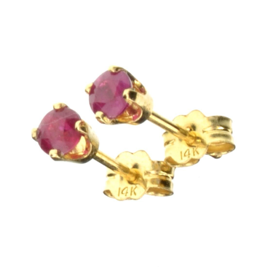 0.37CT Ruby Earrings (NG)