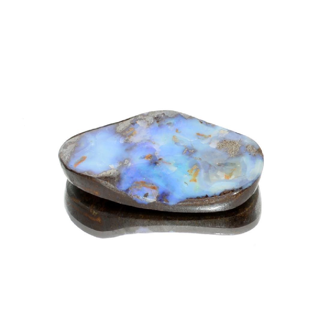 APP: 1.8k 72.01CT Free Form Cabochon Blue Boulder Brown