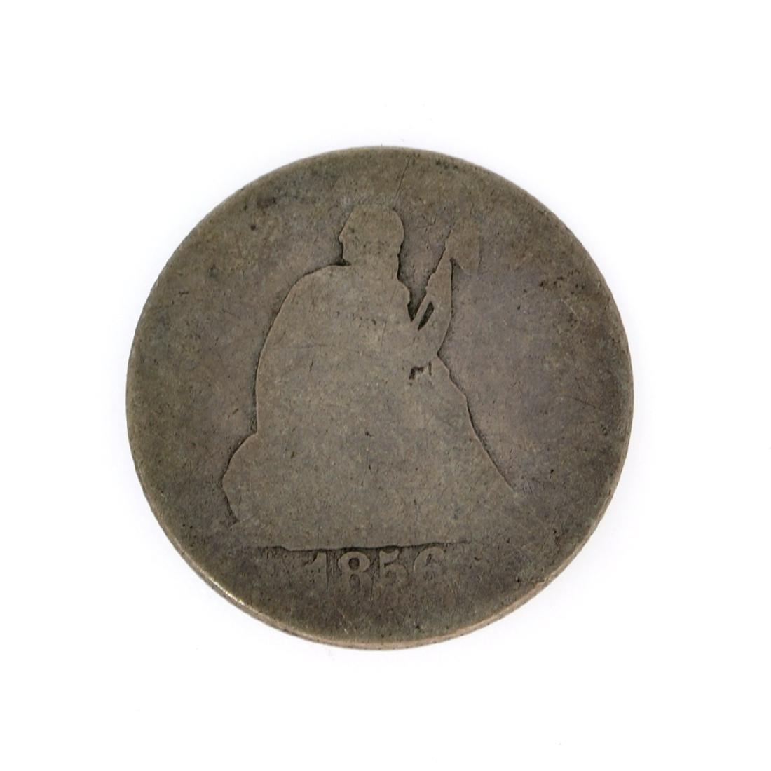 Rare 1856 Liberty Seated Quarter Dollar Coin