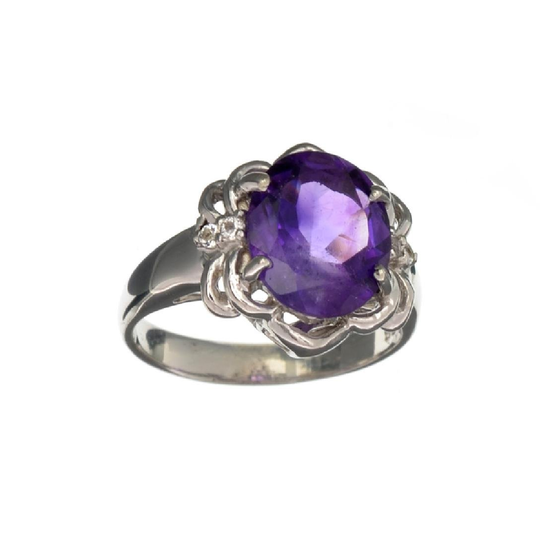 APP: 0.5k Fine Jewelry 3.04CT Oval Cut Amethyst And
