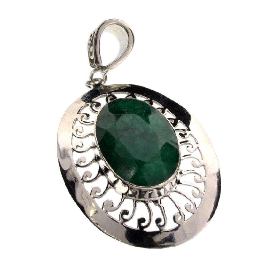 Fine Jewelry Designer Sebastian 21.29CT Oval Cut Green