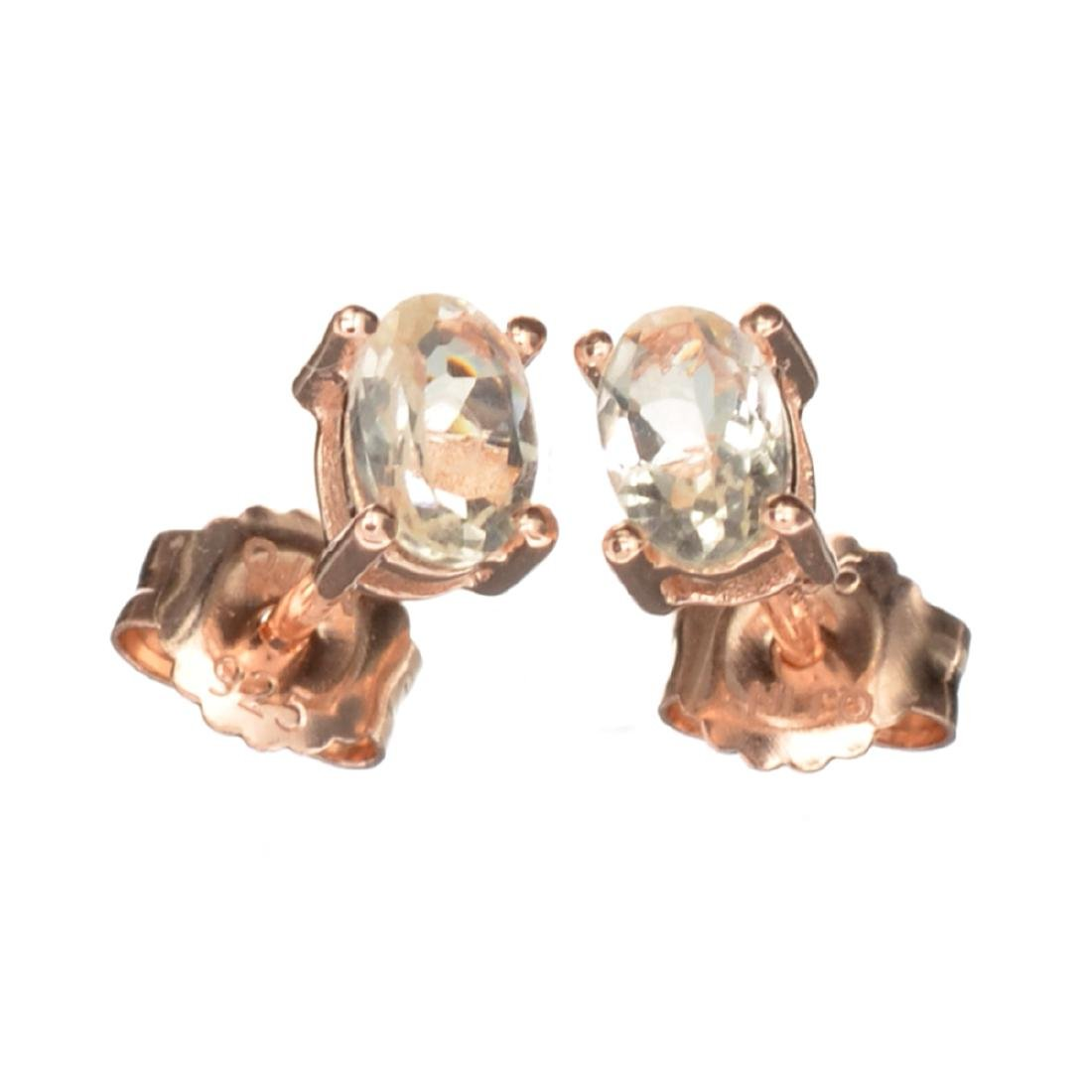 Fine Jewelry 0.85CT Oval Cut Morganite W A Rose Gold
