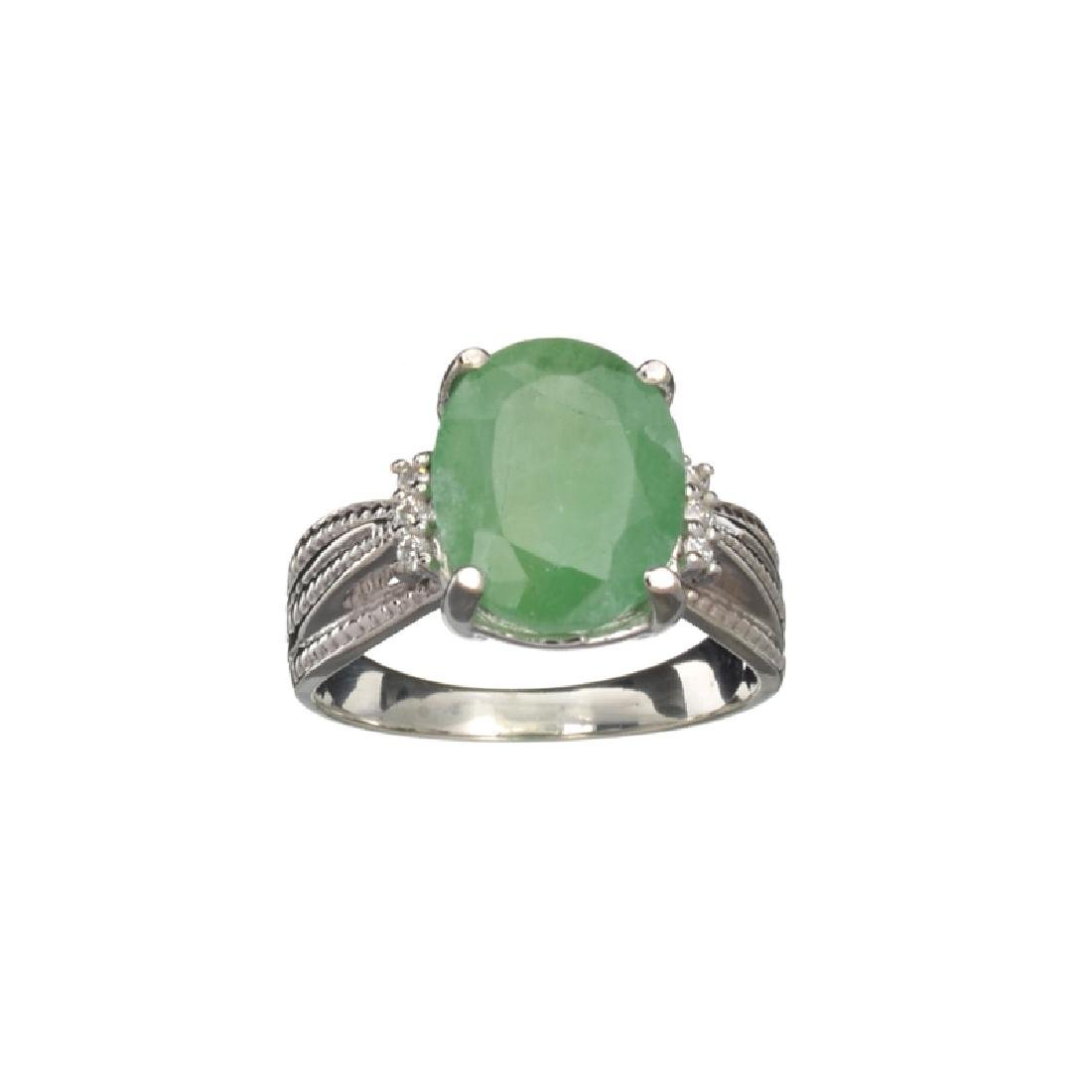 APP: 0.9k Fine Jewelry 3.65CT Green Emerald And Cubic