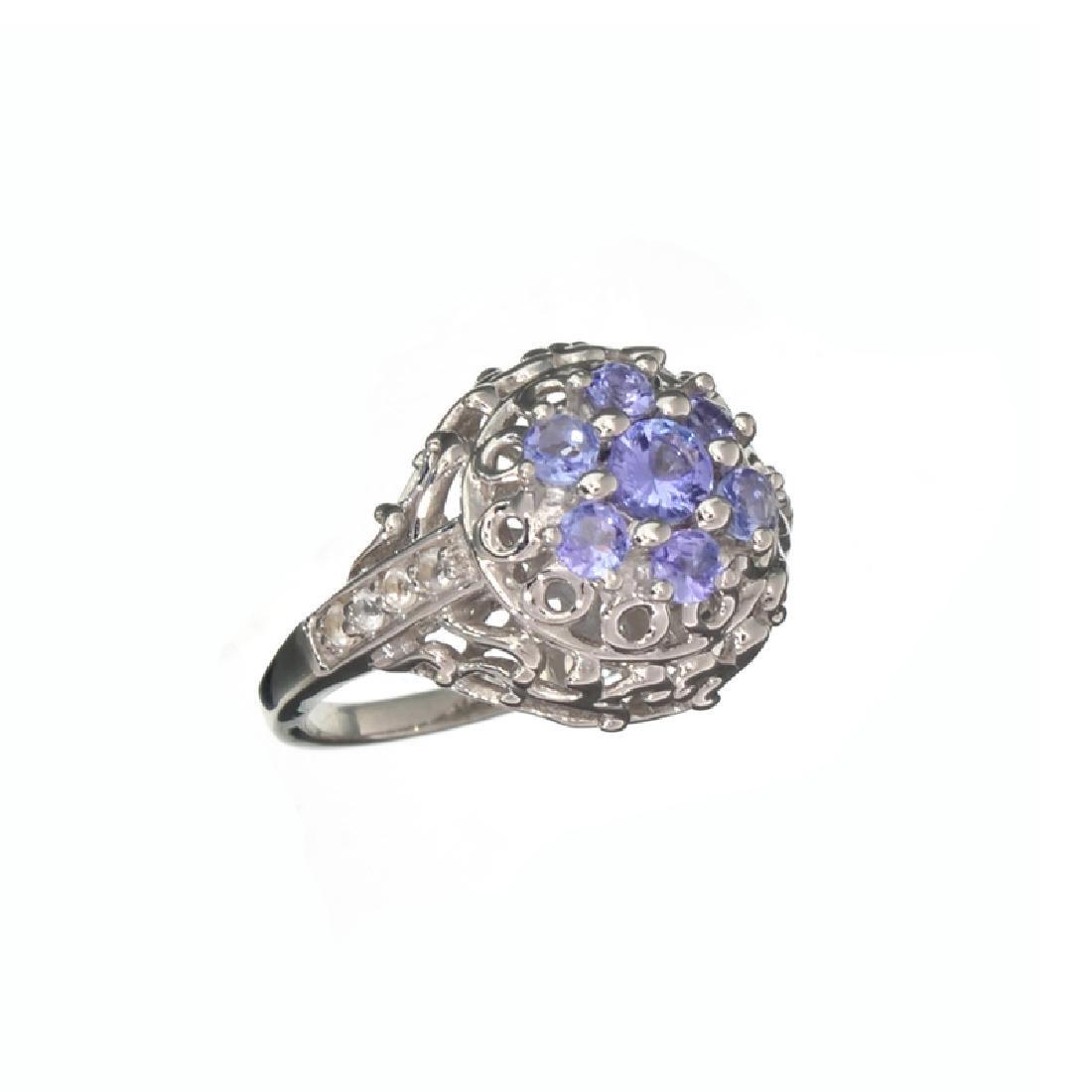 APP: 1k Fine Jewelry 0.65CT Round Cut Tanzanite And