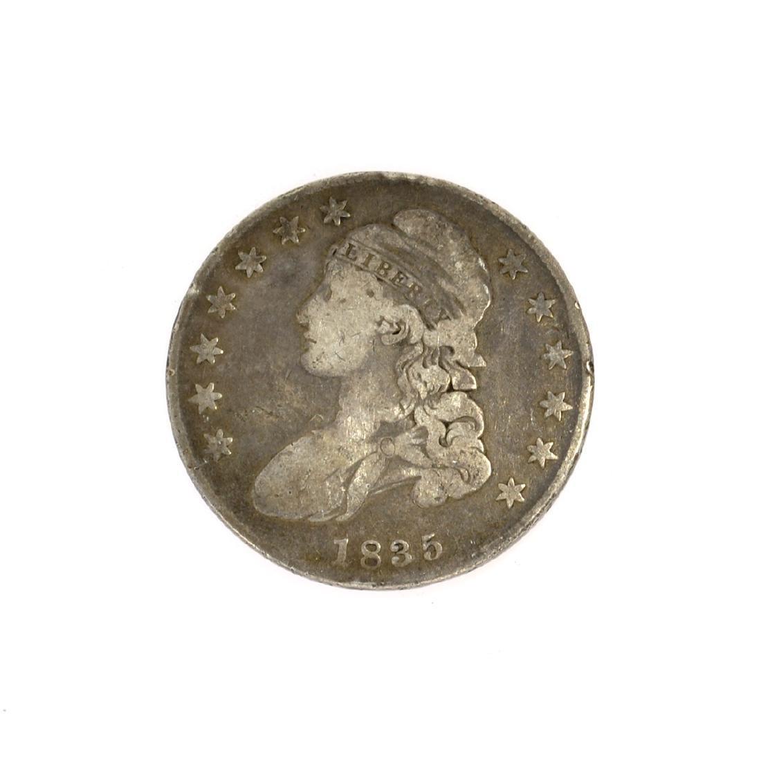 Rare 1835 Capped Bust Half Dollar Coin