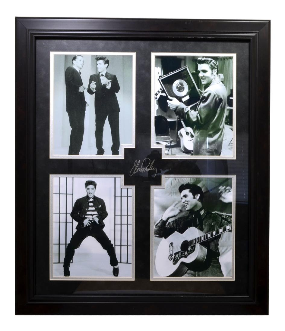 Rare Plate Signed Elvis Presley Photo Great Memorabilia
