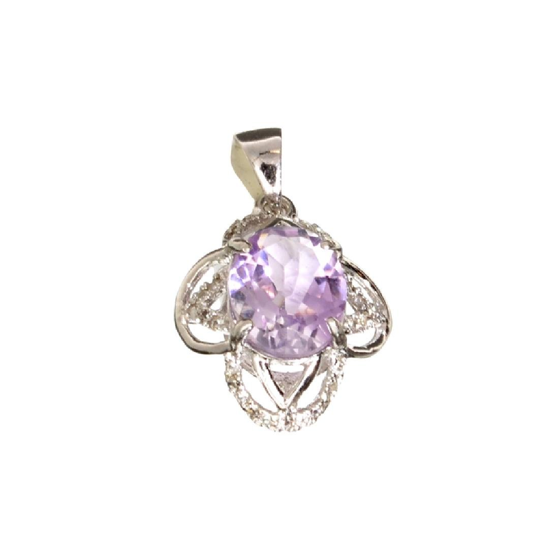 APP: 0.6k Fine Jewelry 2.50CT Purple Amethyst And White
