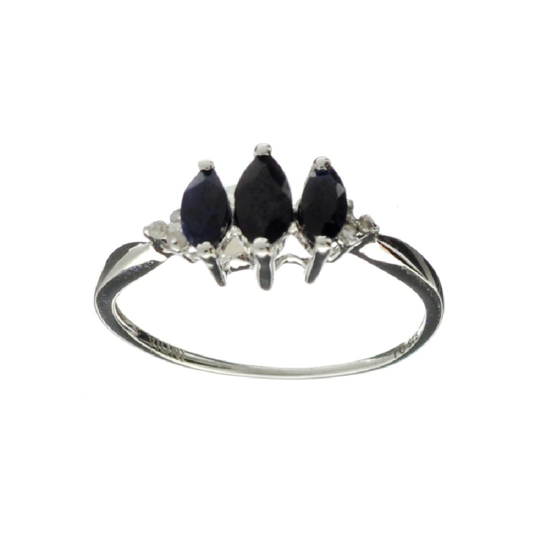 APP: 0.3k Fine Jewelry 0.59CT Blue Sapphire And Diamond