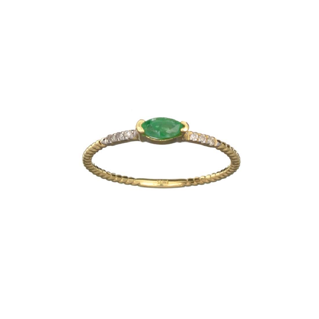 APP: 0.4k Fine Jewelry 14KT Gold, 0.14CT Green Emerald