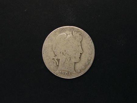 803: GOV: 1904 Half Dollar Coin, COLLECTABLE!!