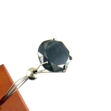 806: GOV: 2.65CT Rare Black Diamond Gemstone, INVESTMEN