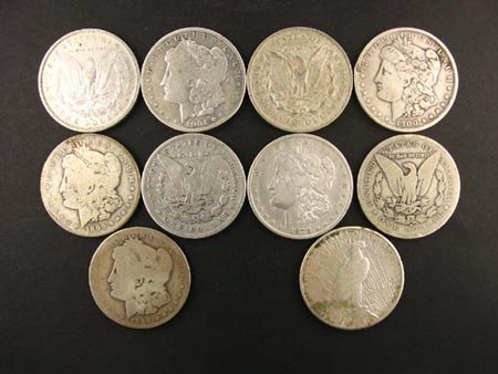 818: 10 Misc. Silver Dollar Coin, COLLECT!