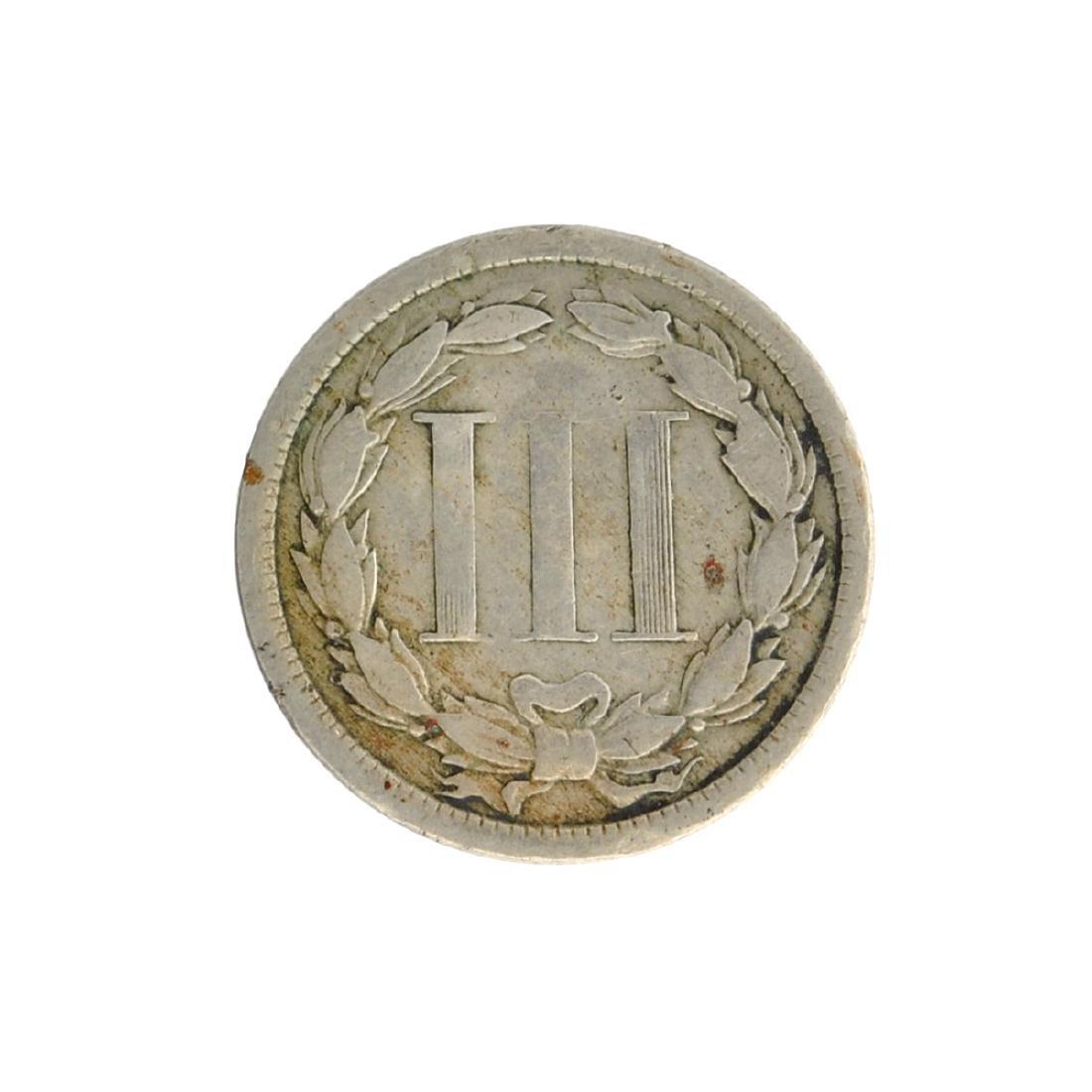 1865 Three-Cent Nickel Coin - 2