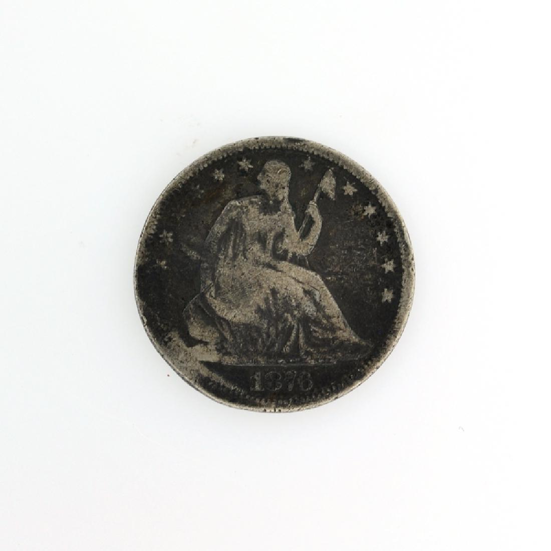 1876 Liberty Seated Half Dolla Coin