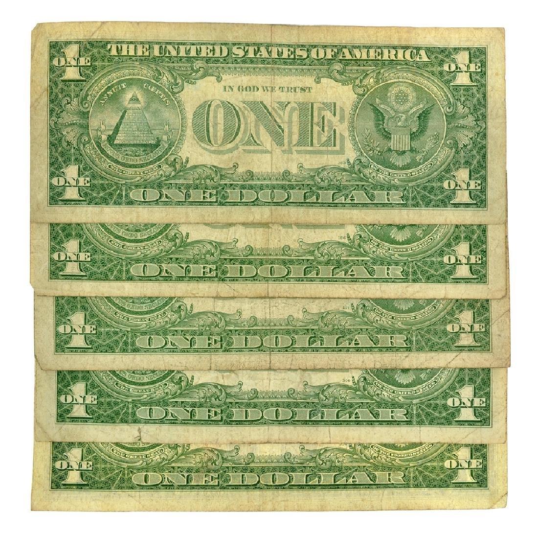 (5) 1957 $1 U.S. Silver Certificates - 2