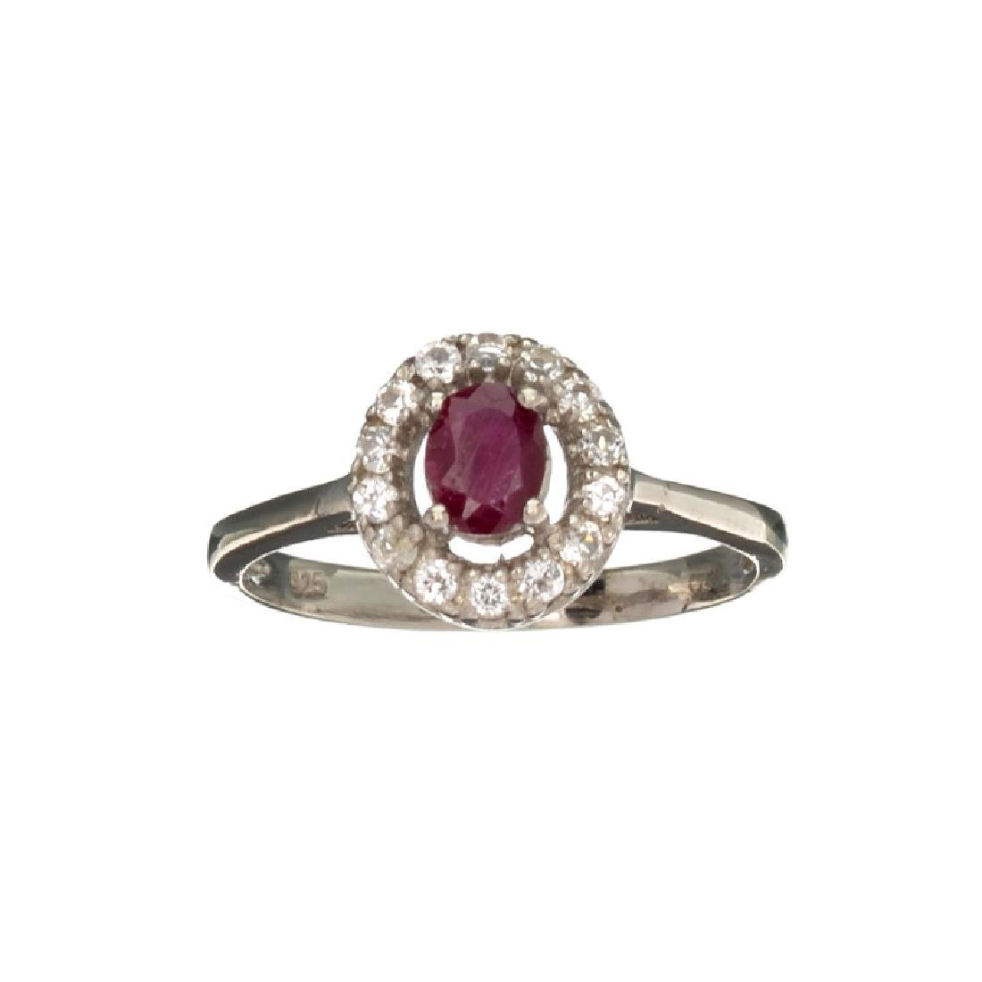 APP: 0.5k Fine Jewelry 0.81CT Oval Cut Ruby And White