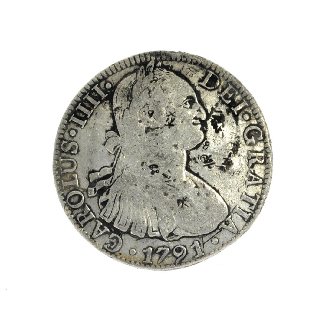 1791 Eigth Reales American First Silver Dollar Coin