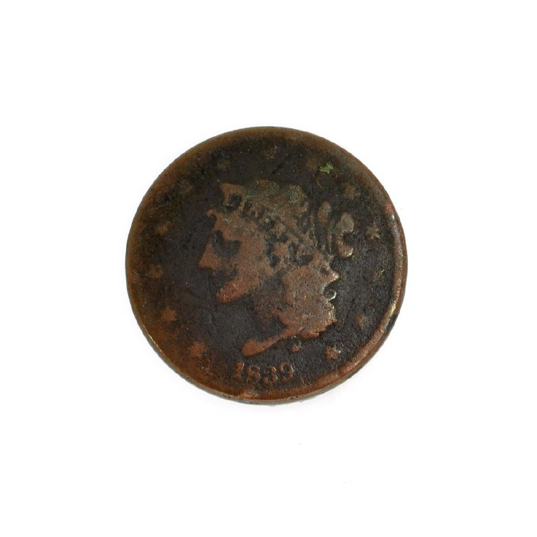 Rare 1839 Large Cent Coin