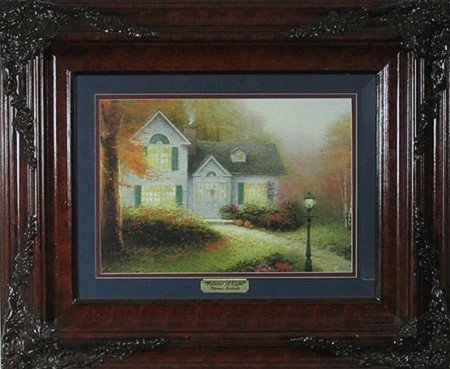 9: N.R.! Thomas Kinkade - Double Matted, Museum Framed