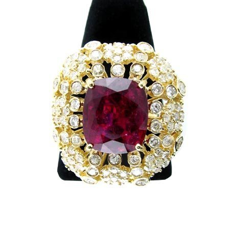 11: APP.: $18.9K, 14 kt. Gold, 8.12CT Rubellite Ring, I