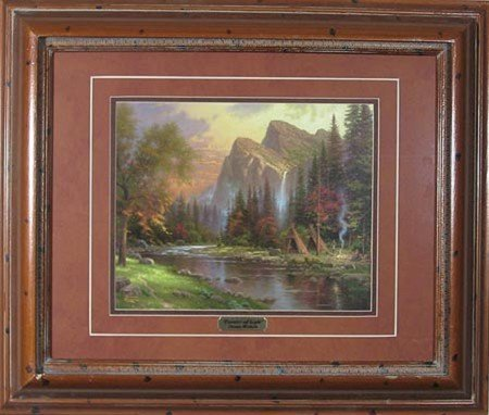 21: N.R.! GOV: Thomas Kinkade - Double Matted, Museum F