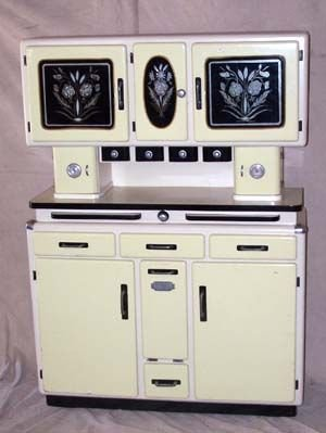14: Outstanding French Art Deco Kitchen Cupboard