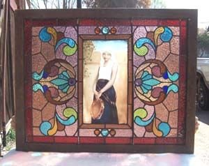 18: Beautiful Stained Glass Windown with Portrait