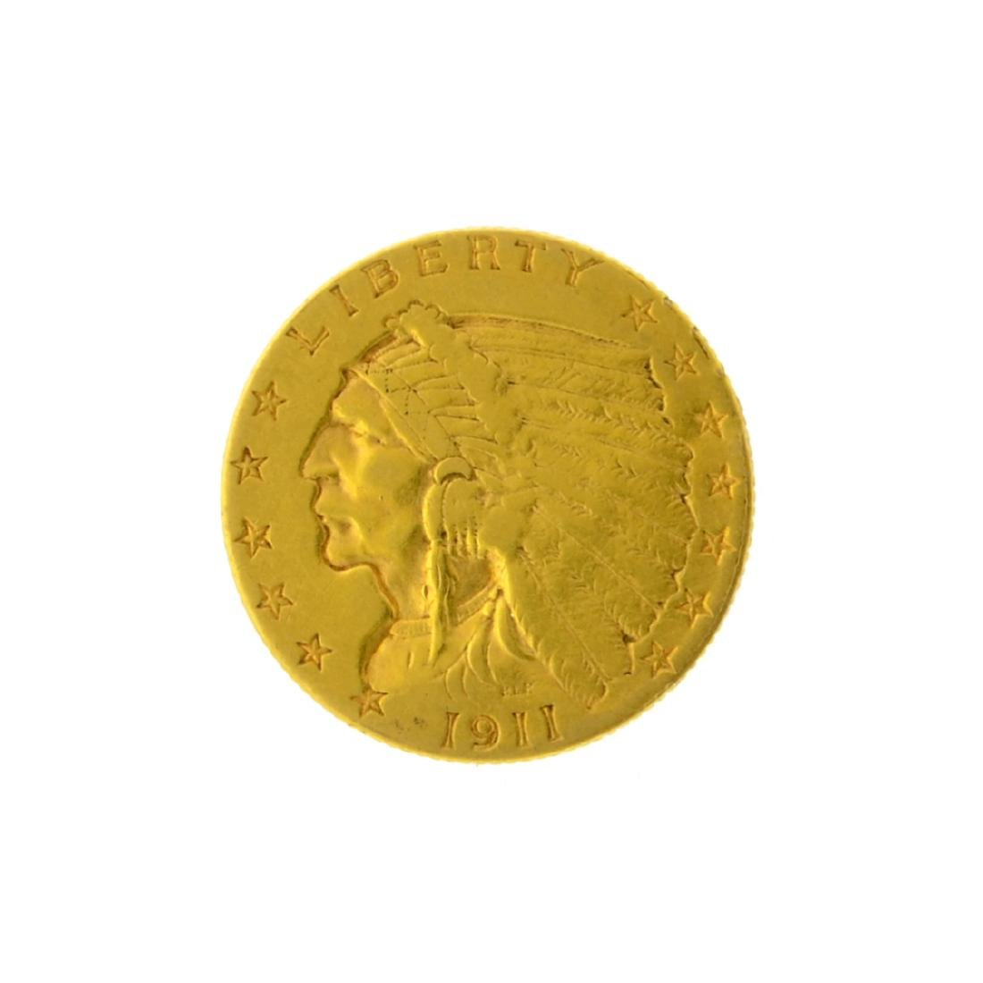 1911 $2.50 Indian Head Gold Coin