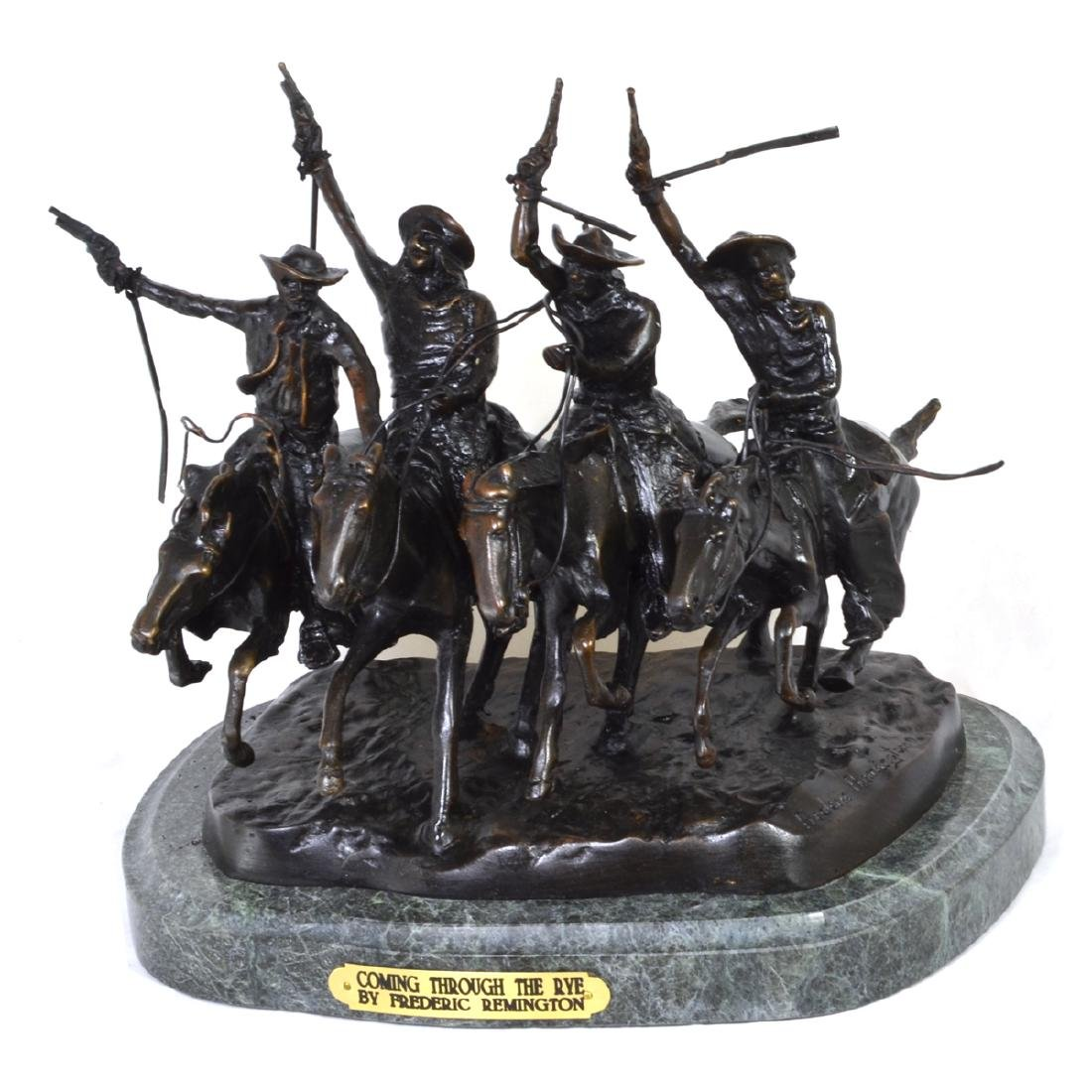 Very Rare Coming Thru The Rye By Frederic Remington-