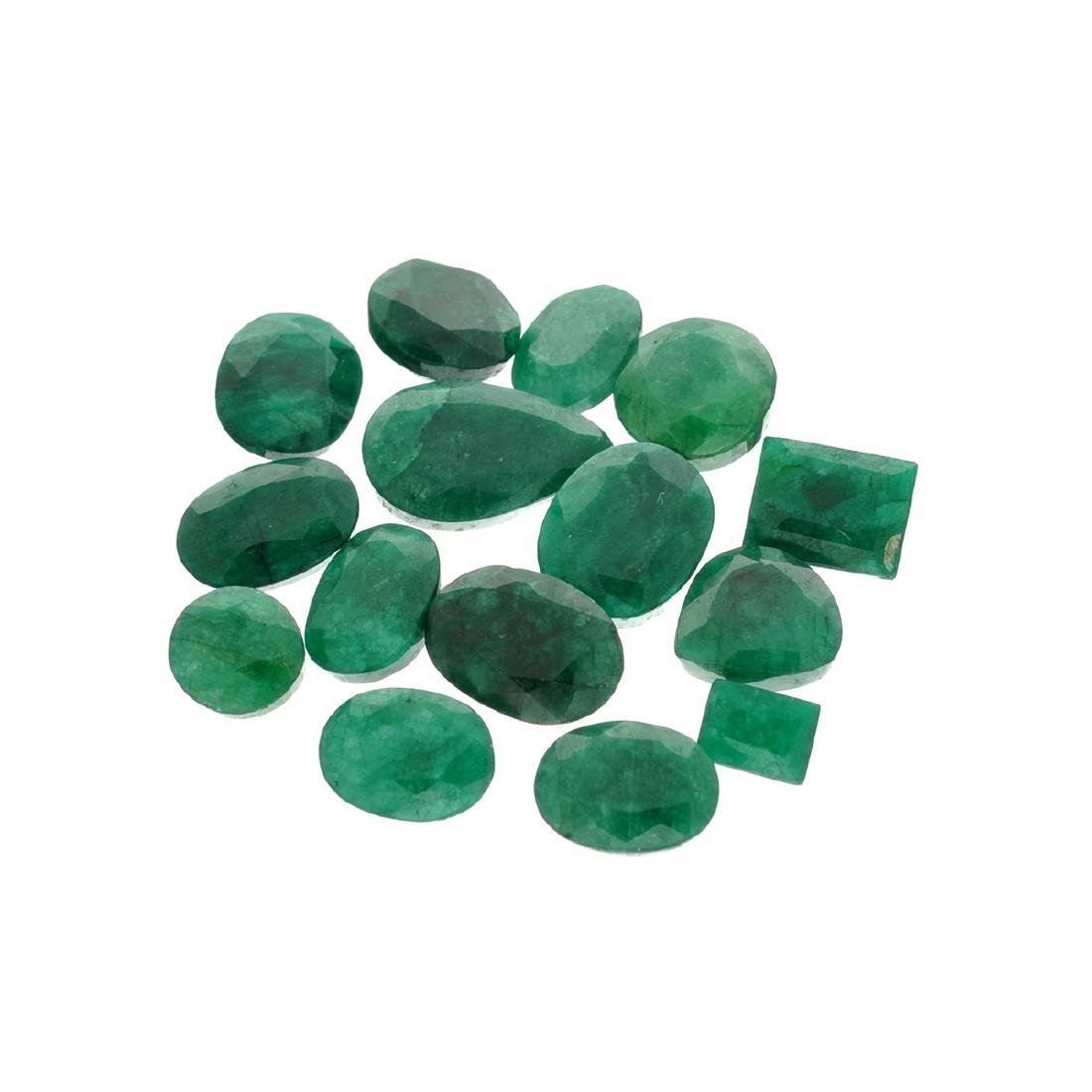 APP: 7.6k 100.70CT Various Shapes Green Emeral Parcel -