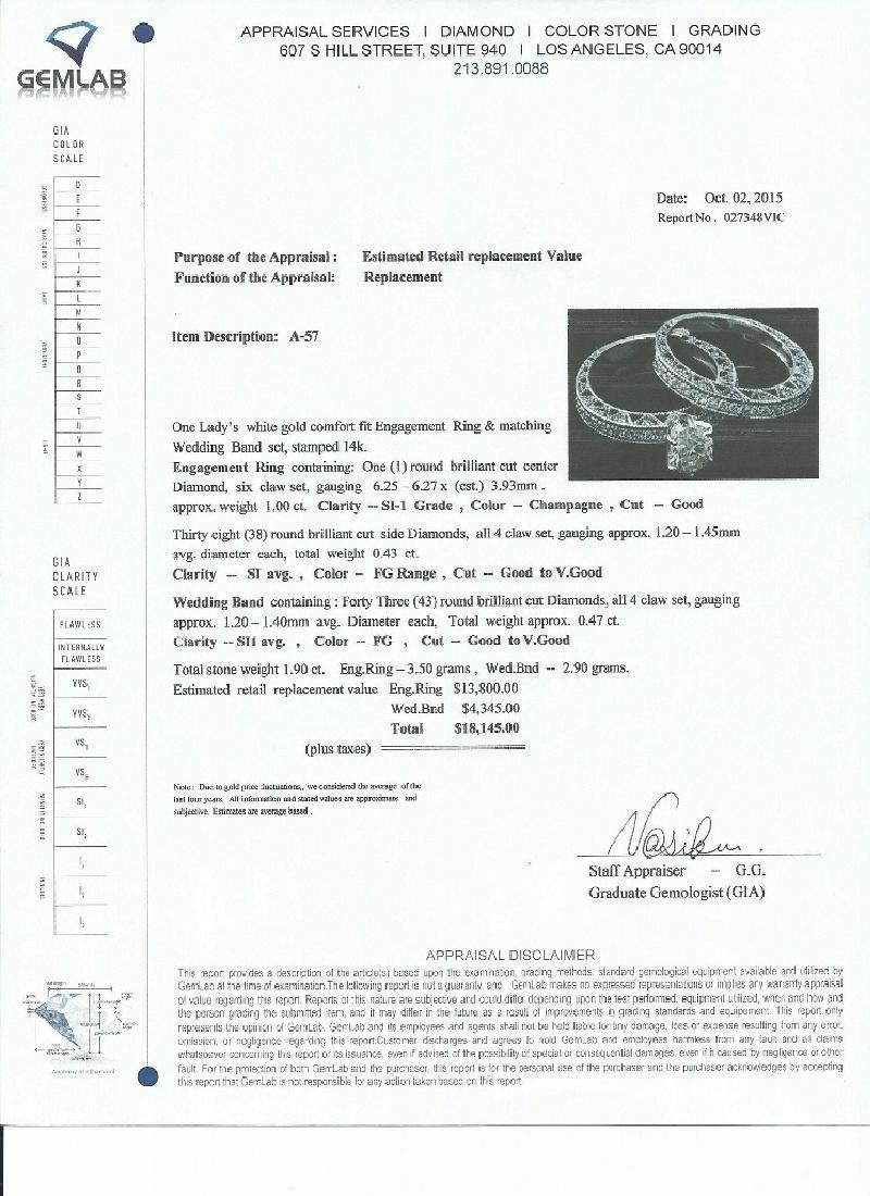 APP: 18.1k *Fine Jewelry 14KT White Gold, 1.90CT Round - 2