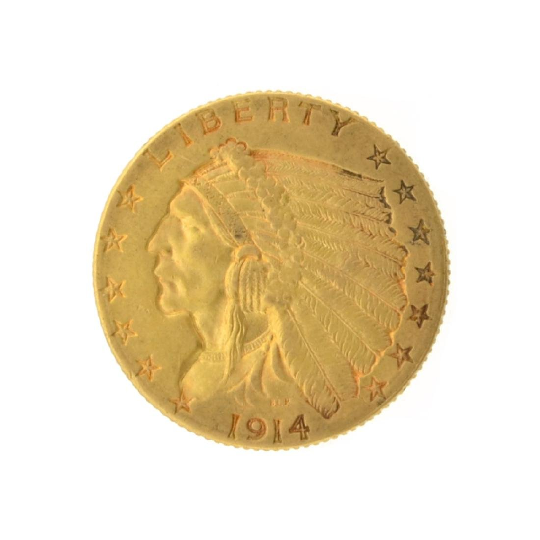 1914-D $2.50 Indian Head Gold Coin