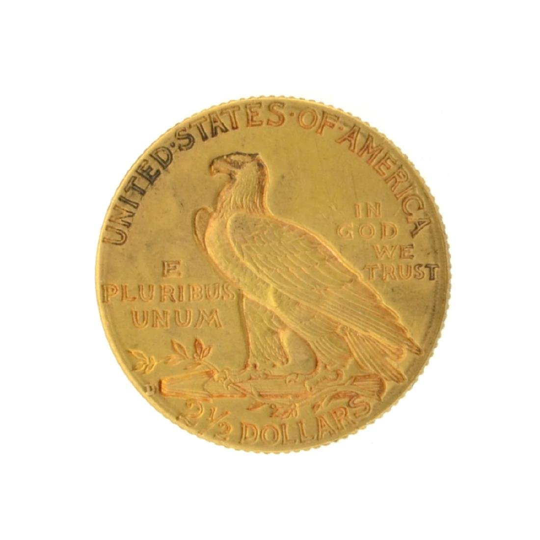 1914-D $2.50 Indian Head Gold Coin - 2