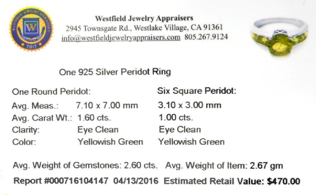 APP: 0.5k Fine Jewelry 2.60CT Green Peridot And - 2