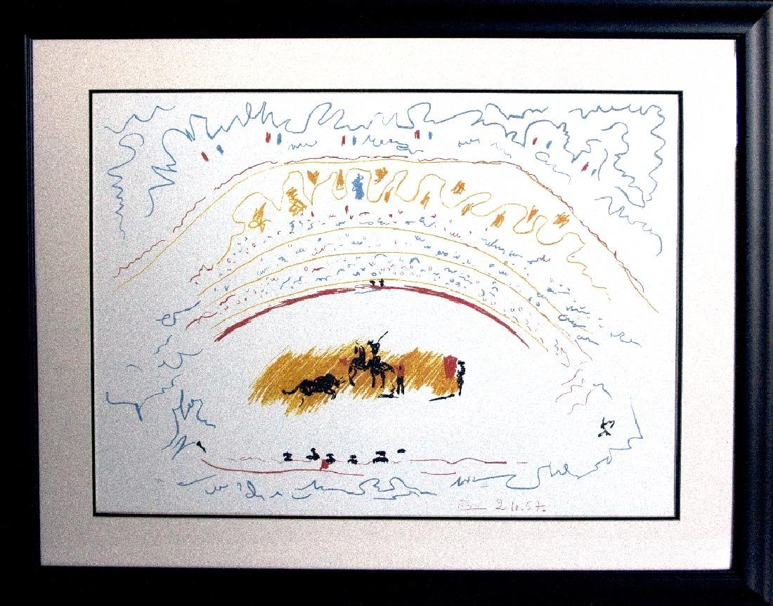 (After) Custom Framed Corrida By Picasso