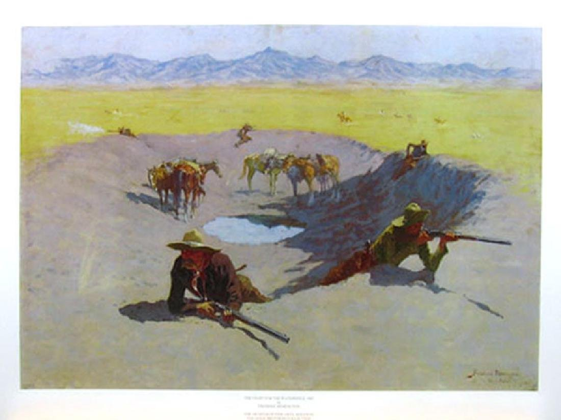 FREDERIC REMINGTON (After) The Fight for the Waterhole