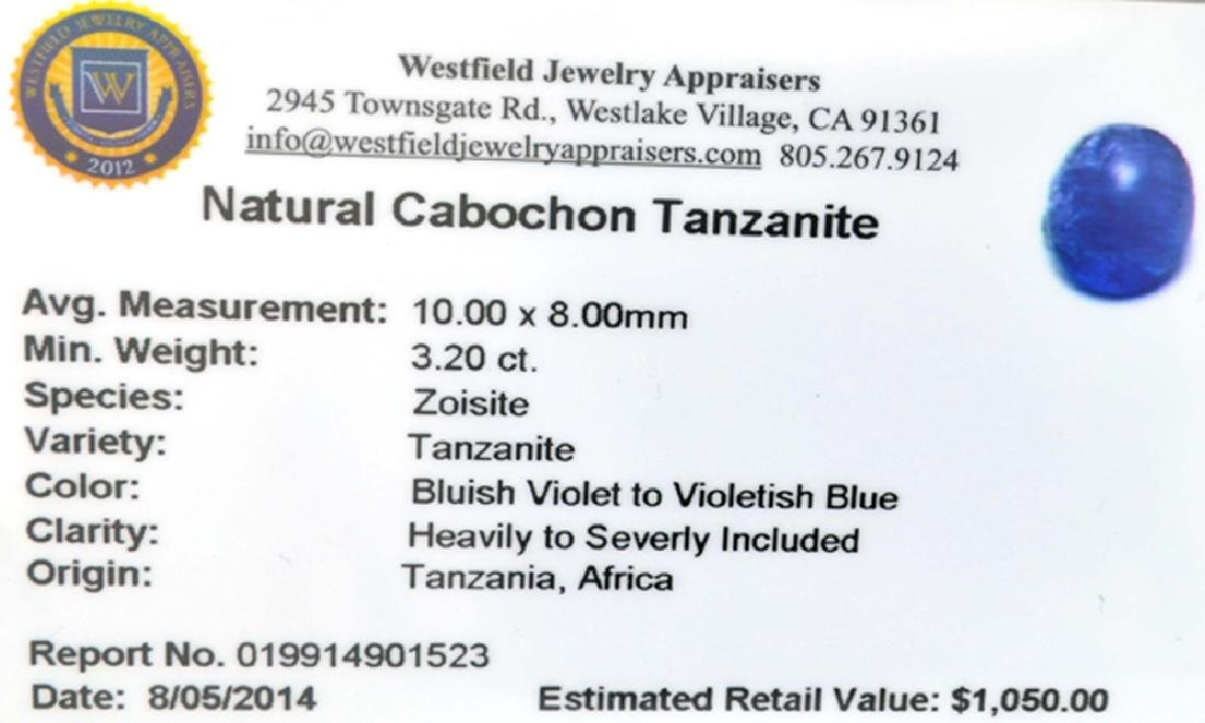 APP: 1k 3.20CT Natural Cabochon Tanzanite Gemstone - 3