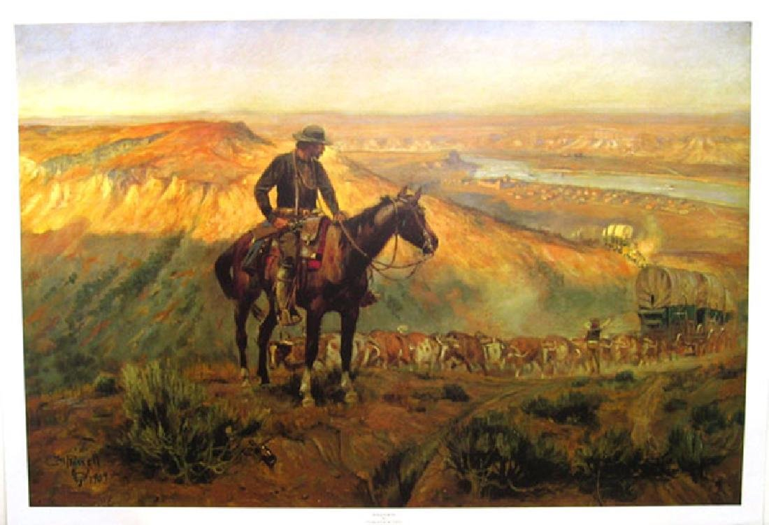 CHARLES M. RUSSELL (After) Wagon Boss Print, 32'' x