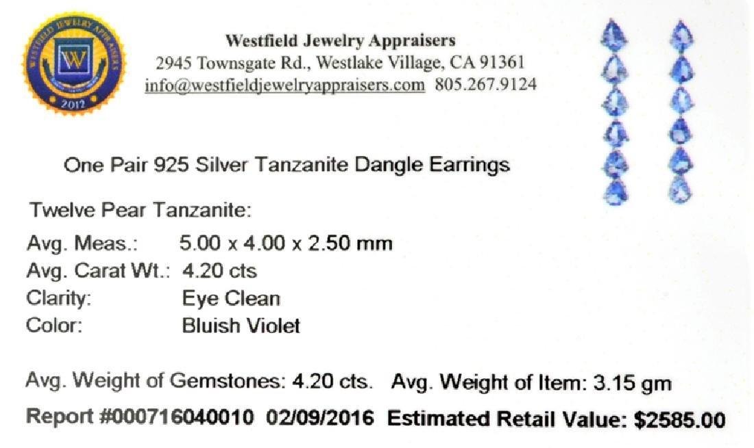 APP: 2.6k Fine Jewelry 4.20CT Pear Cut Tanzanite And - 2