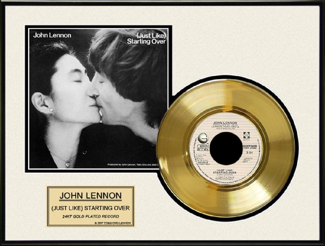 ''Just Like Starting Over'' Gold Record
