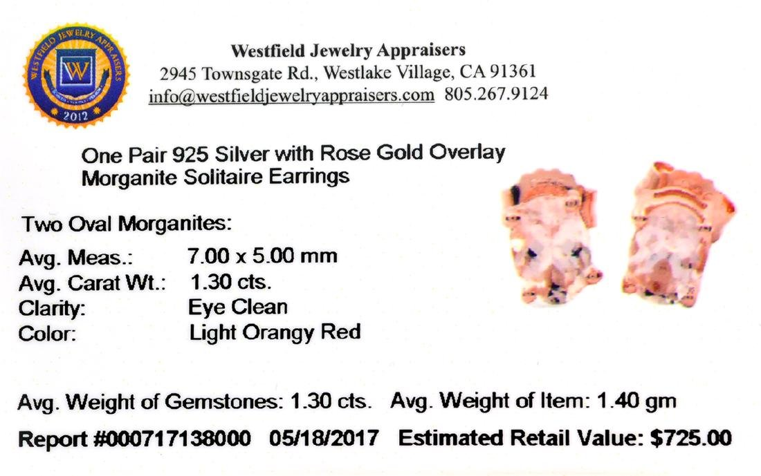 APP: 0.7k Fine Jewelry 1.30CT Morganite And  Rose Gold - 2