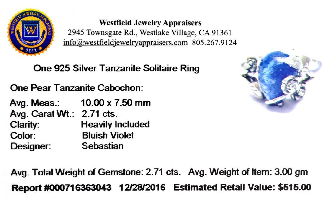 Fine Jewelry Designer Sebastian 2.71CT Pear Cut - 2