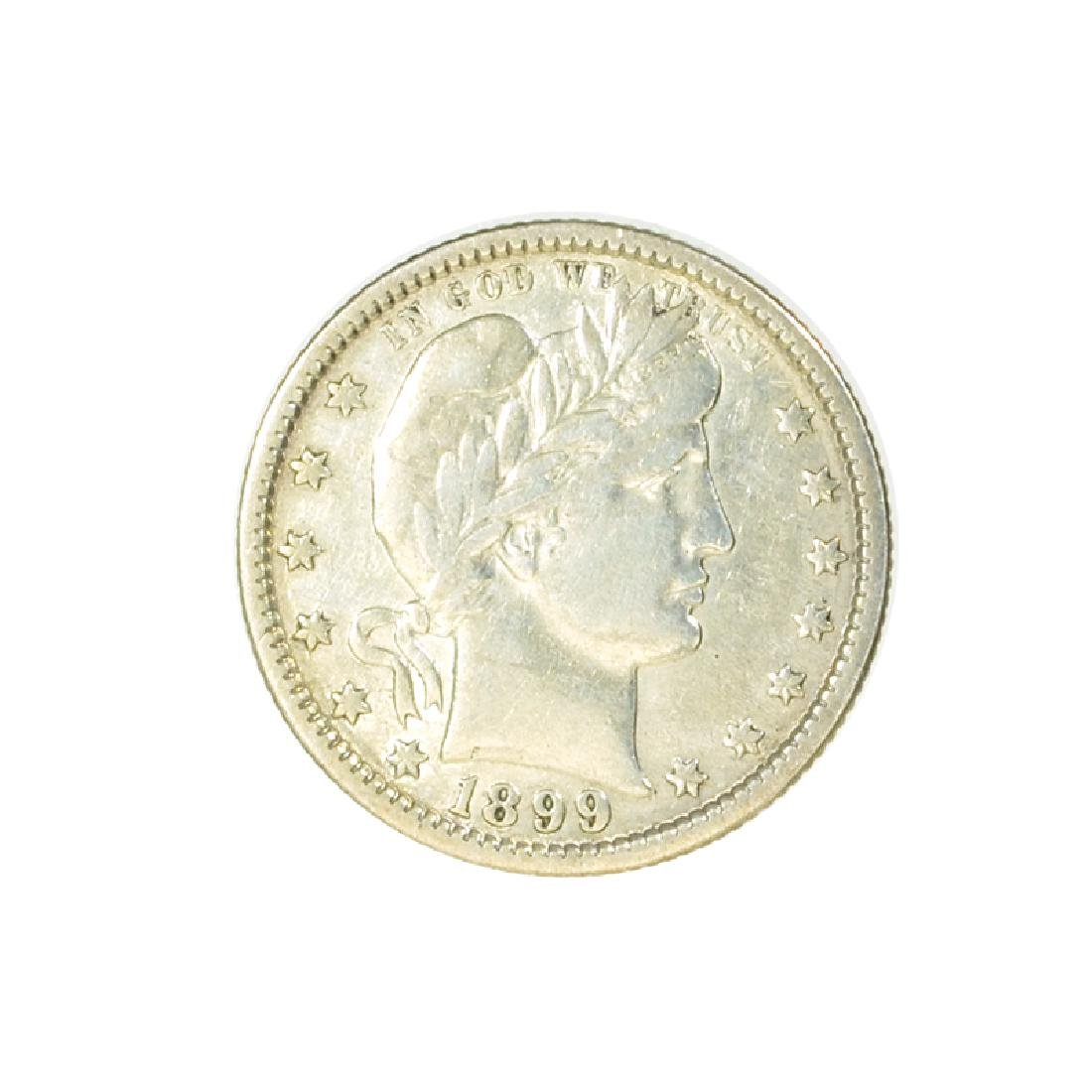 1899-O Barber Head Type Quarter Dollar Coin