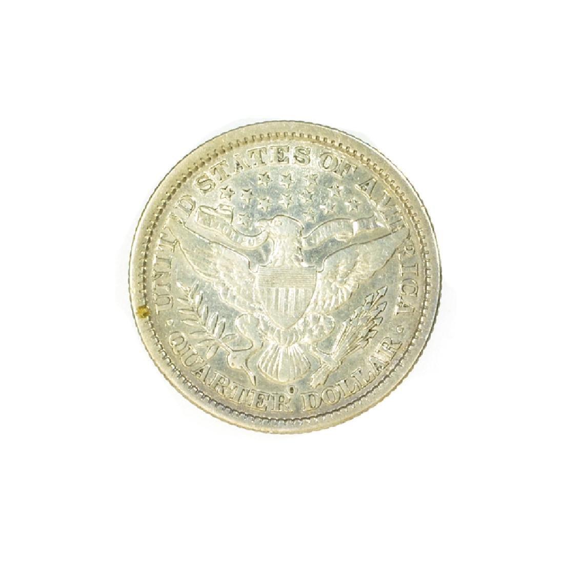 1899-O Barber Head Type Quarter Dollar Coin - 2