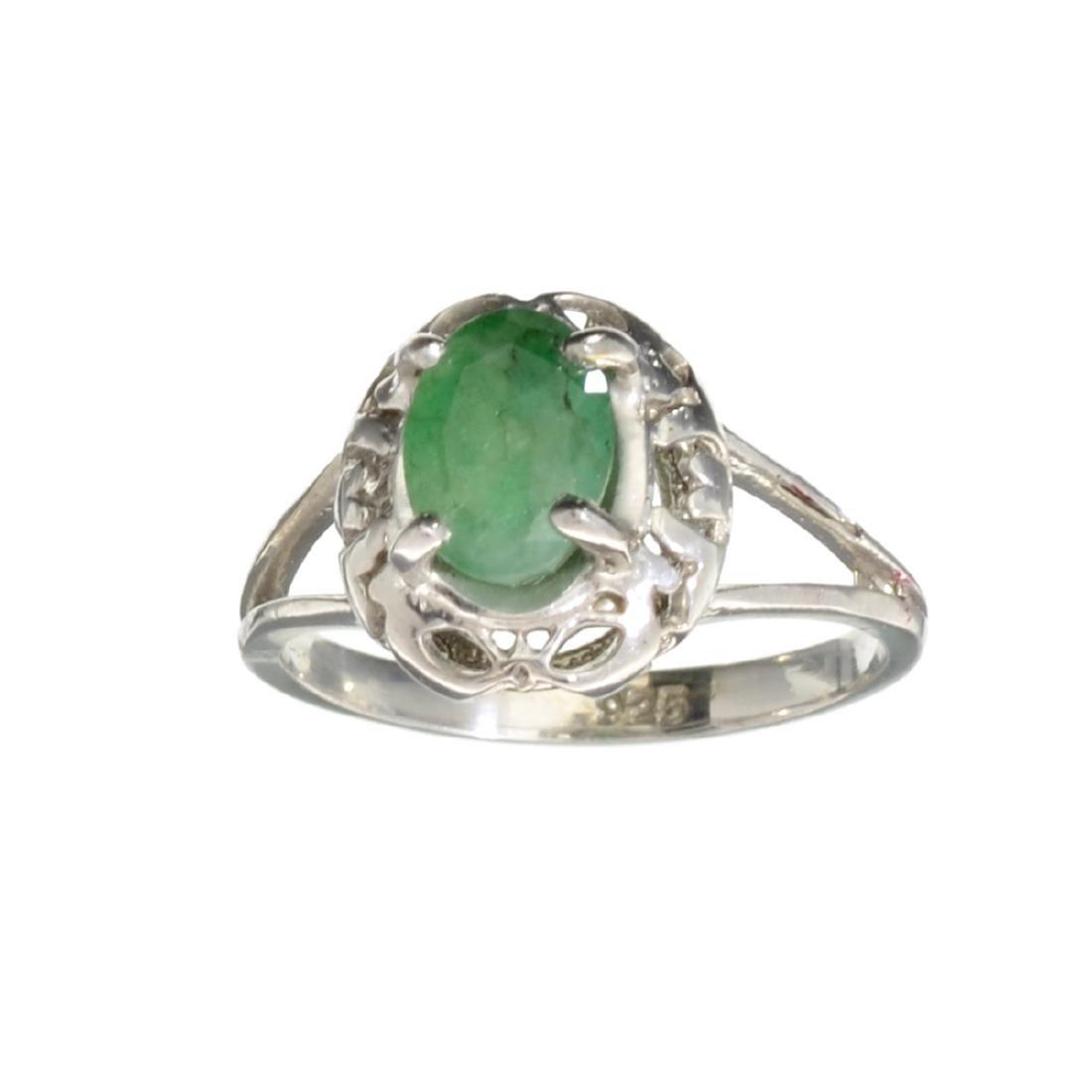 APP: 0.8k Fine Jewelry 0.96CT Oval Cut Green Emerald