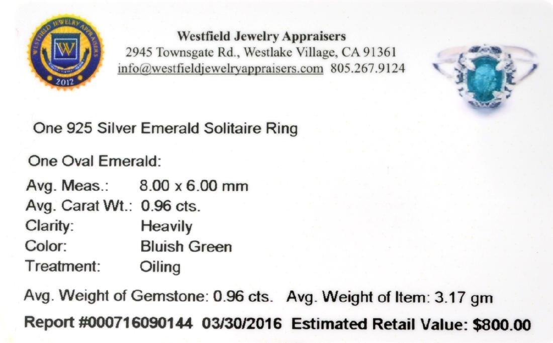 APP: 0.8k Fine Jewelry 0.96CT Oval Cut Green Emerald - 2