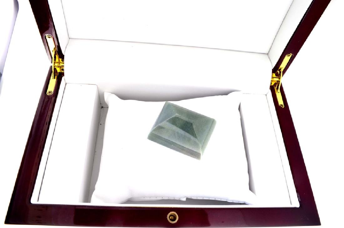 APP: 3.7k 261.50CT Rectangle Cut Green Jade Gemstone - 2