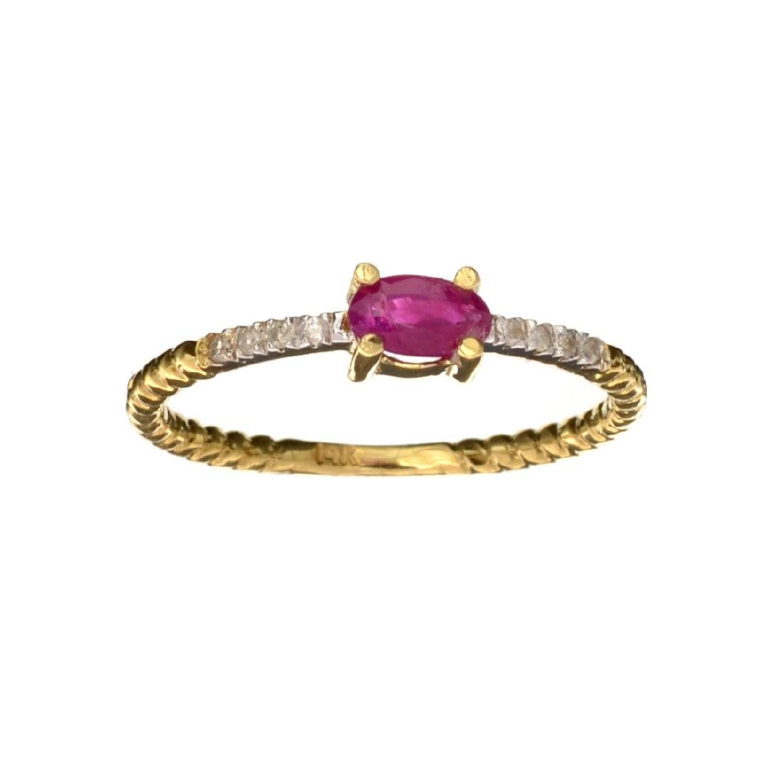 APP: 0.6k Fine Jewelry 14KT Gold, 0.26CT Ruby And