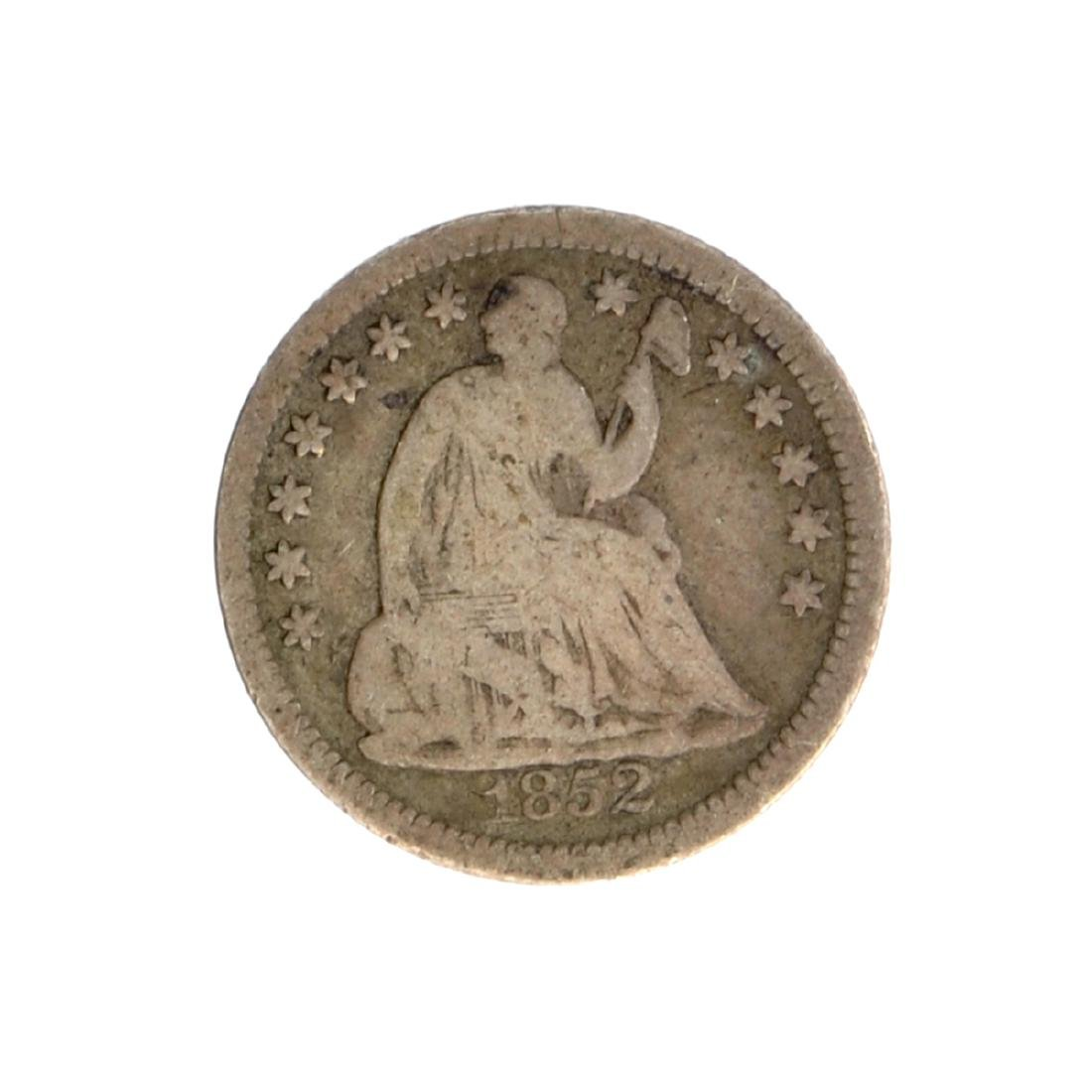 1852 Liberty Seated Half Dime Coin